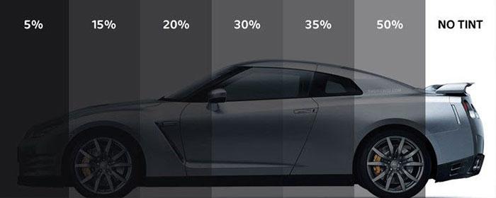 برچسب دودی شیشه خودرو